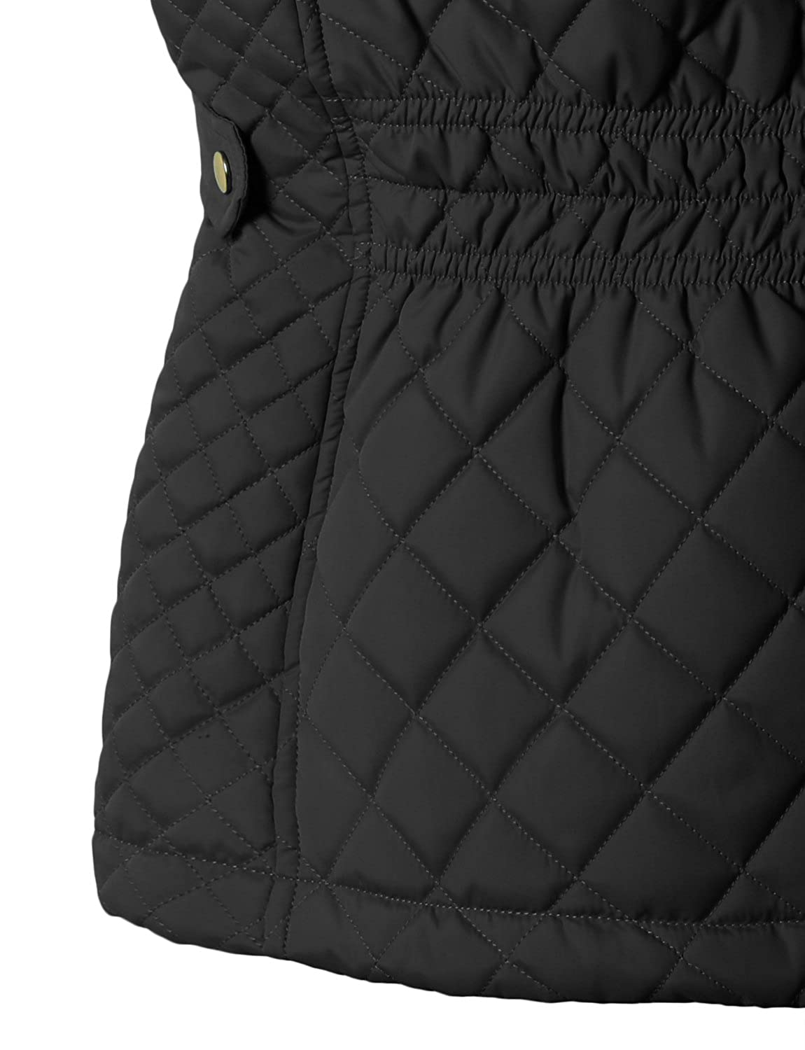 RubyK Womens Padded Quilted Puffer Jacket Vest with Hoodie