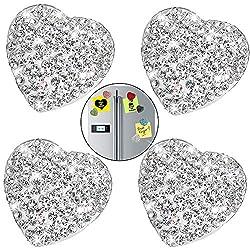 Refrigerator Magnets With White Rhinestone