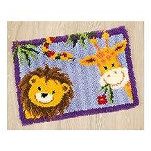 Latch Hook Rug Kit - Lion-Giraffe