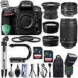 Nikon D810 36.3MP 1080P DSLR Camera w/ Wi-Fi & GPS Ready - 7 fps + 5 Lens - 15 to 300mm - 128GB - 30PC Kit - Nikon 50mm 1.8D - Nikon 70-300G - Opteka 15mm - 2.2x Tele - 0.43x Wide + 3YR Warranty