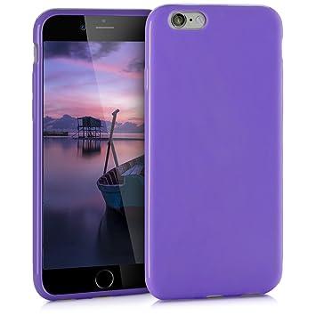 kwmobile Funda para Apple iPhone 6 / 6S - Carcasa para móvil en {TPU silicona} - Protector {trasero} en {violeta mate}