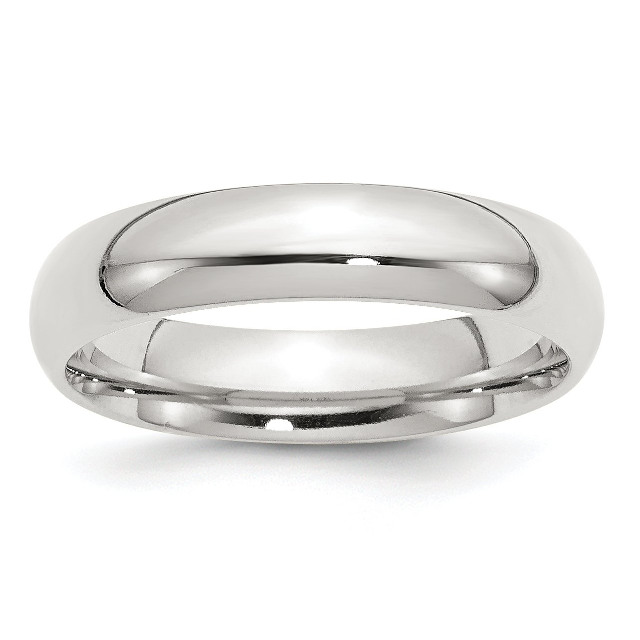 925 Sterling Silver 5mm Wedding Band Ring Size 11.5