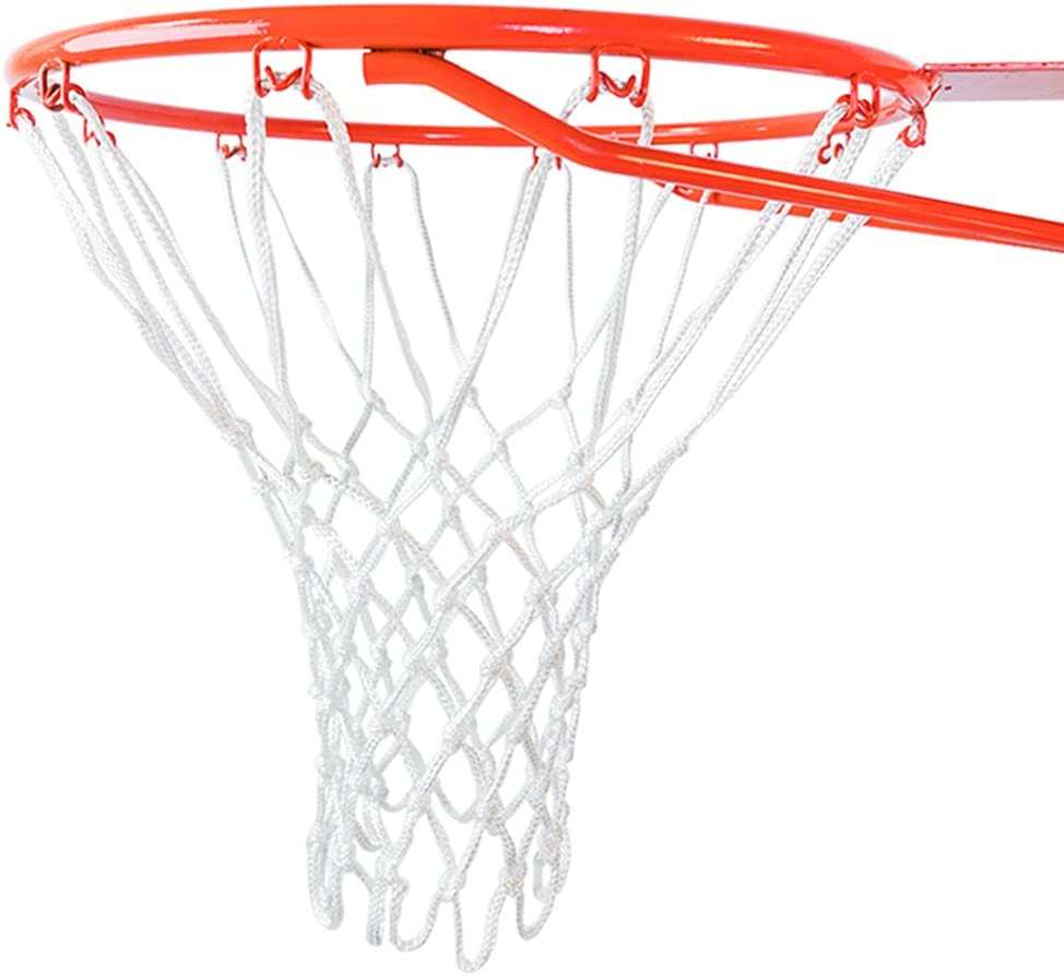 Jixing Professional 12 Loop Heavy Duty Basketball Net Fits Standard Indoor or Outdoor Basketball Hoop,White,50cm