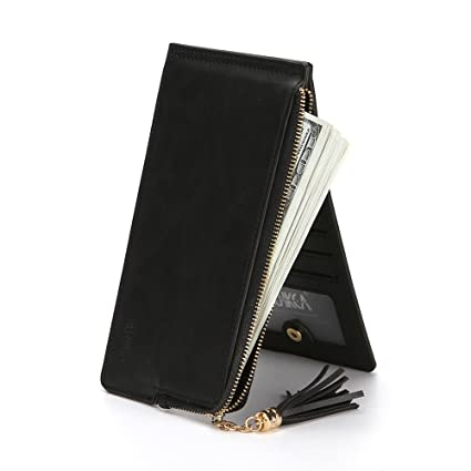 Lovely rabbit Lady Leather Credit Card Holde Wallet Travel Mini Carteras/Titular / Bolso (
