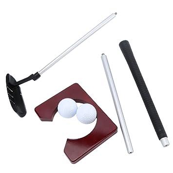 Portátil para palo de golf poniendo formación bola para golf ...