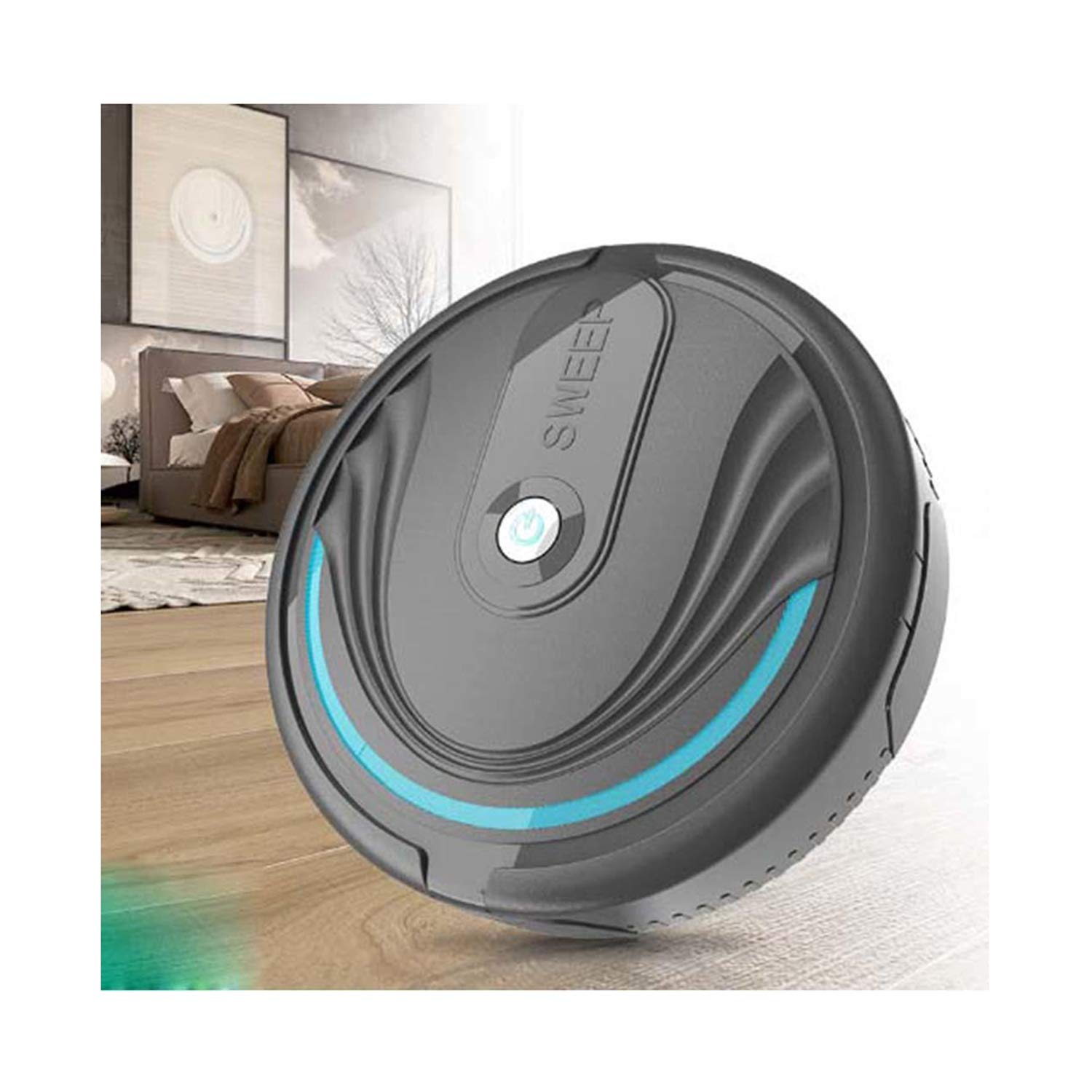 Yuniole Robot Vacuum Robot Vacuum Cleaner, Super-Strong Suction&Ultra Slim, Intelligent Sweeping Robot Automatic Self-Charging Robotic Vacuum for Cleaning, Easy Schedule Cleaning Handheld Vacuums by Yuniole