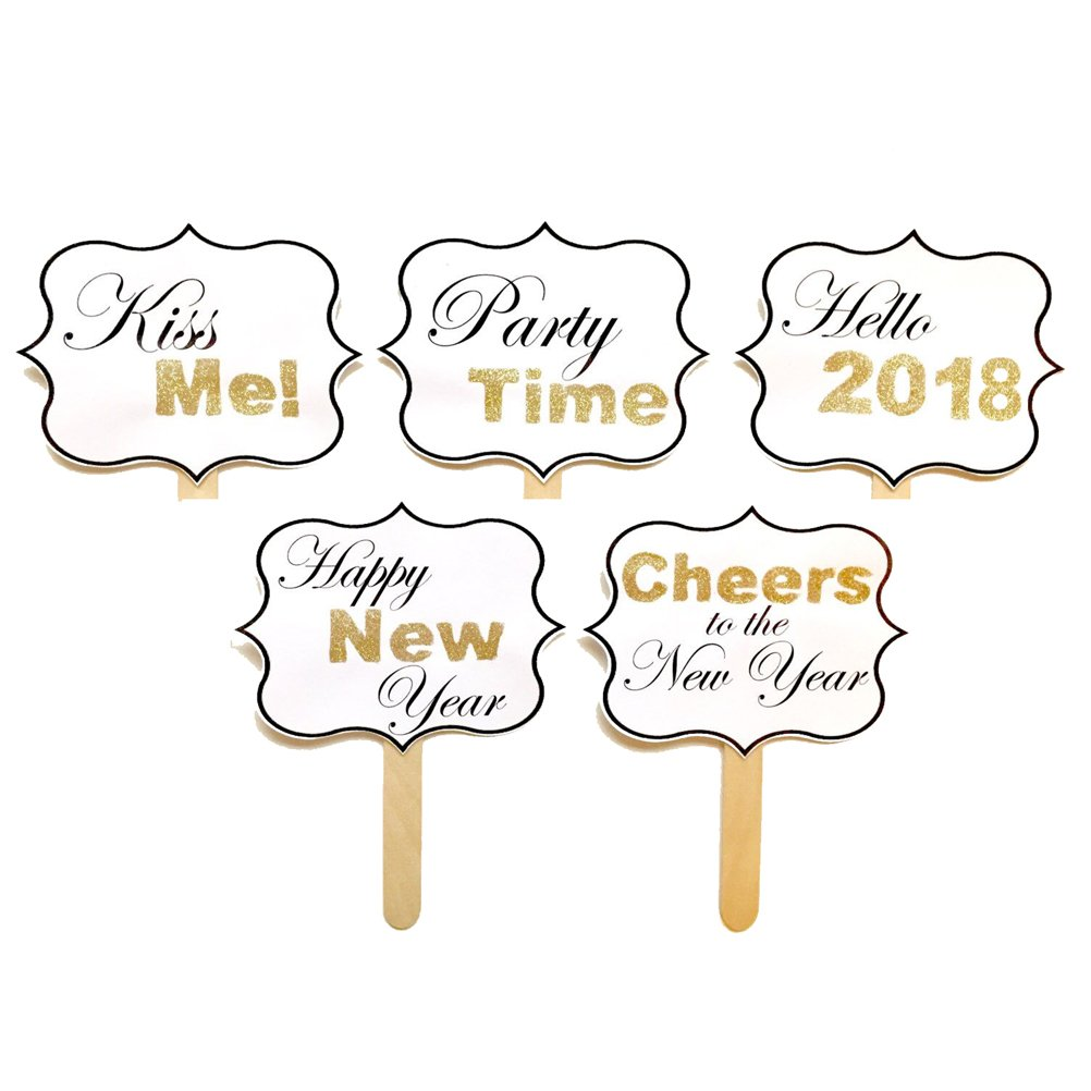 OULII Silvester Foto Requisiten 2018 Neujahr Photo Booth Props Set ...