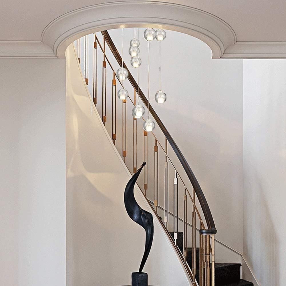 Mopoq Moderna escalera de la lámpara for Dúplex de construcción con grandes luces pendientes for sala de estar, lámpara del techo, casa con escalera de caracol, de 14 piezas de la lámpara