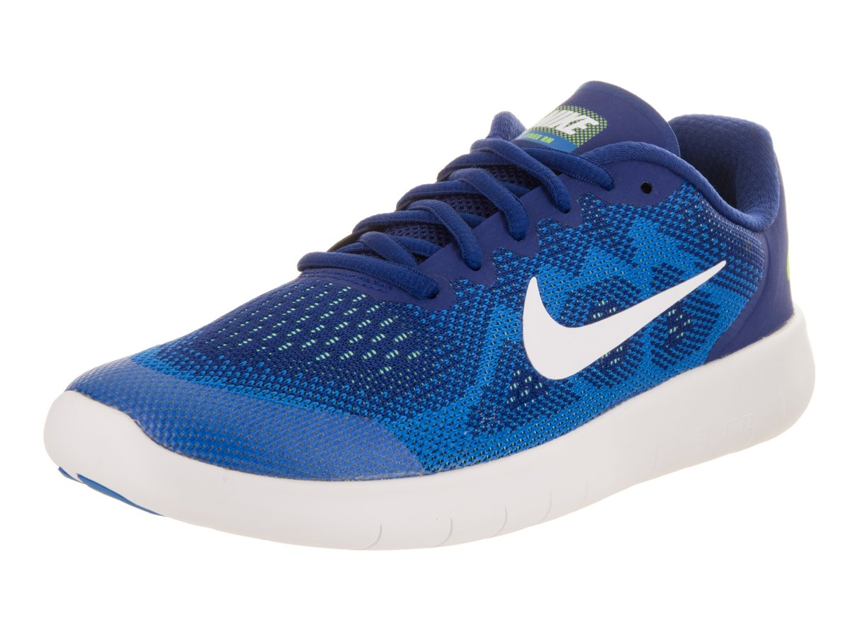 NIKE Kids Free Rn 2017 (GS) Running Shoe (Deep Royal Blue/White Soar) by NIKE