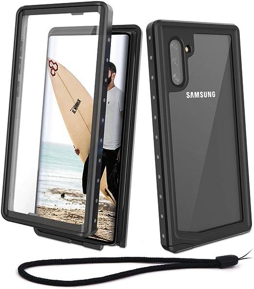 Beeasy Funda Samsung Note 10,Impermeable 360 Grados Protección IP68 Carcasa para Galaxy Note 10 Antigolpes Rígida Robusta Resistente Impacto Militar Duradera Blindada Fuerte Seguridad Case Cover,Negro: Amazon.es: Electrónica