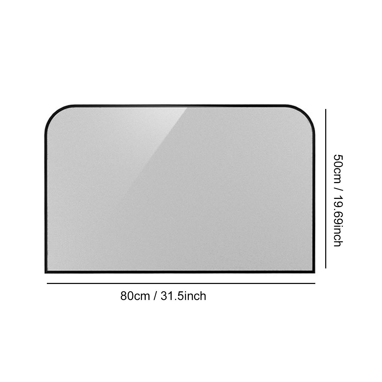 Vococal 1 Pares Universal Plegable Telesc/ópico Magn/ético Anti-UV Sombras Solares Protectores de Parasol para Coche Lado Trasero Windows 80x50cm