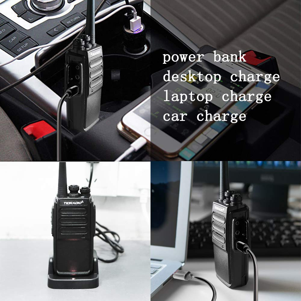 Walkie Talkies Rechargeable 2 Way Radio Micro USB Charge Plug 10 Walkie Talkies for Adults 10pcs by TIDRADIO (Image #4)