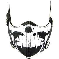 Motorista Máscara - Calavera Negro - Piel Sintética