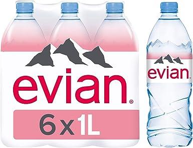 Agua mineral natural Evian 1 L 6 x 1 litre: Amazon.es: Alimentación y bebidas