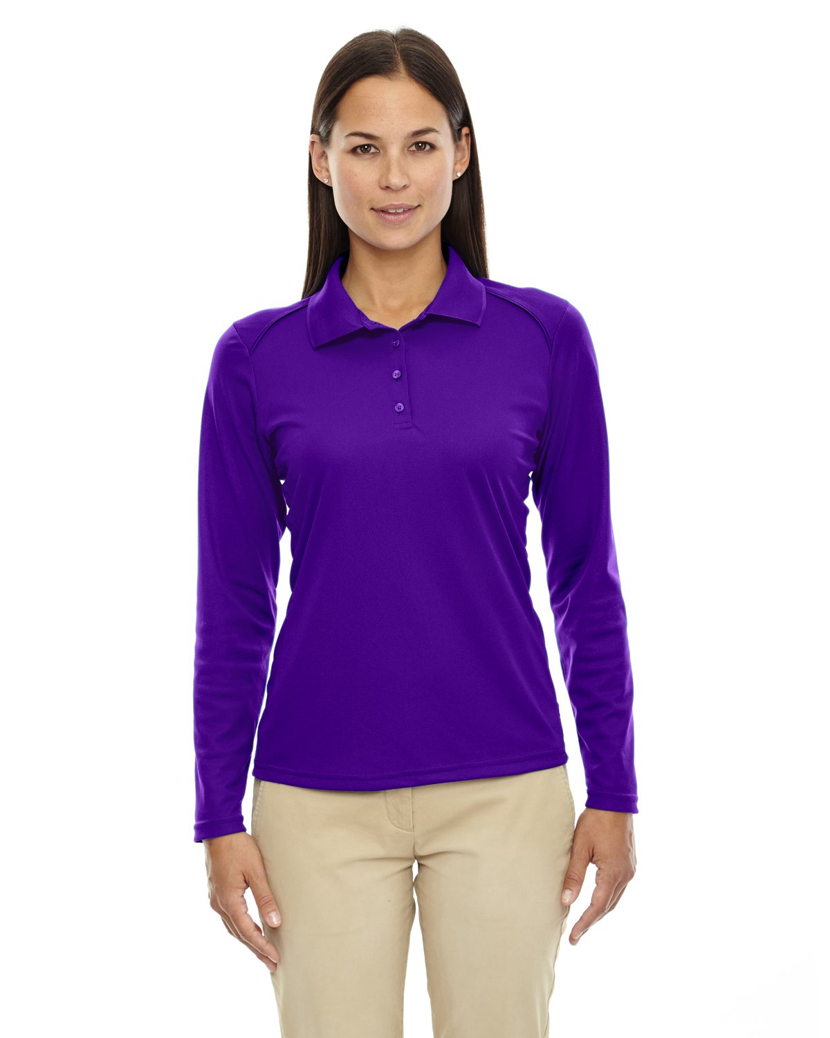 Ash City Ladies Armour Long Sleeve Polo (XX-Large, Campus Purple) by Ash City Apparel