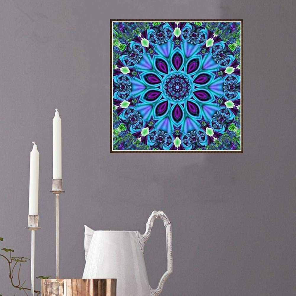 LIWEISDSDFS Diamond Paintings Kit Mandala Full Drill Flowers Prime Time UK 5d for Party Games Office Study Room Decoration Stickers