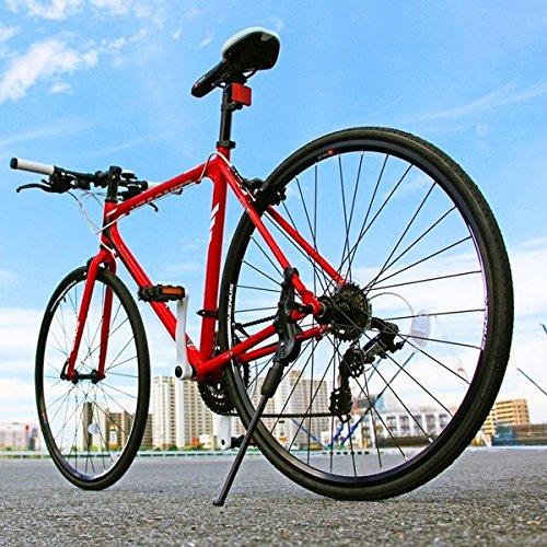 クロスバイク 700c(約28インチ)/レッド(赤) シマノ21段変速 アルミフレーム 軽量 重さ11.2kg 【VENUS】 ビーナス CAC-021【代引不可】 生活用品 インテリア 雑貨 自転車(シティーサイクル) クロスバイク top1-ds-1634426-ah [簡素パッケージ品] B06XQNZH9P