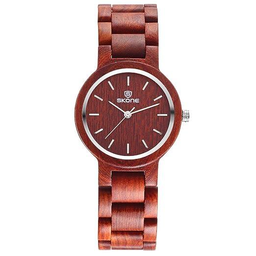 SJXIN Reloj Elegante 2018 señoras Reloj de Madera de sándalo Moda Reloj de Cuarzo Relojes de Moda (Color : 2): Amazon.es: Relojes