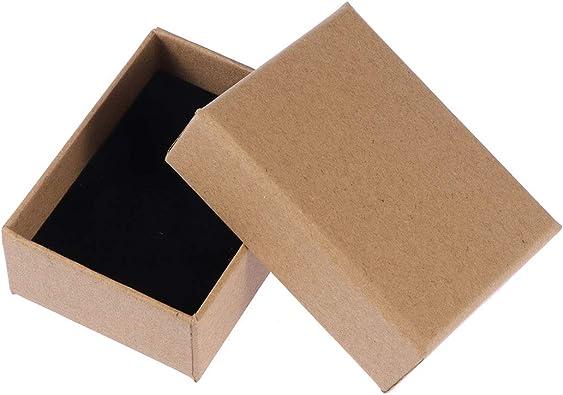 Supvox 10PCS Pequeño Regalo Cajas de Joyas Pendientes Caja de Papel Kraft Caja de cartón Grueso para Aniversarios cumpleaños de Boda: Amazon.es: Joyería