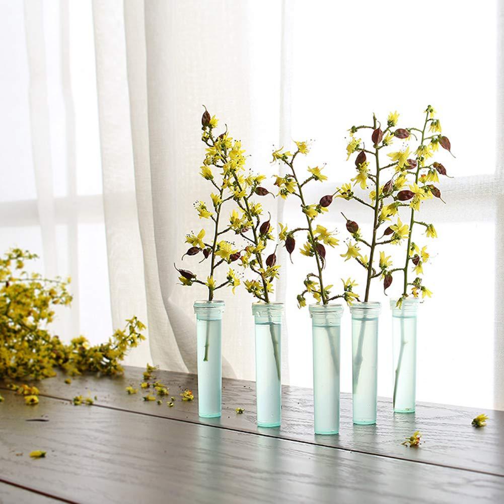 ARTSTORE 200pcs Floral Water Tube for Flower Arrangements, Clear Blue Plastic, Long