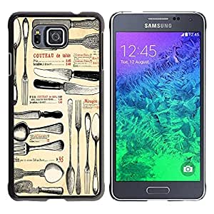 Dragon Case - FOR Samsung ALPHA G850 - knife and fork - Caja protectora de pl??stico duro de la cubierta Dise?¡Ào Slim Fit