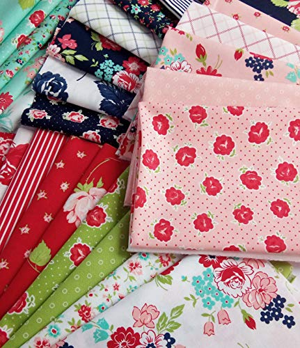 Smitten Bonnie and Camille Moda Fabrics Reproduction Cotton Quilting Fabric ~ 26 Fat Quarters Bundle ~ 6.5 Yards ()