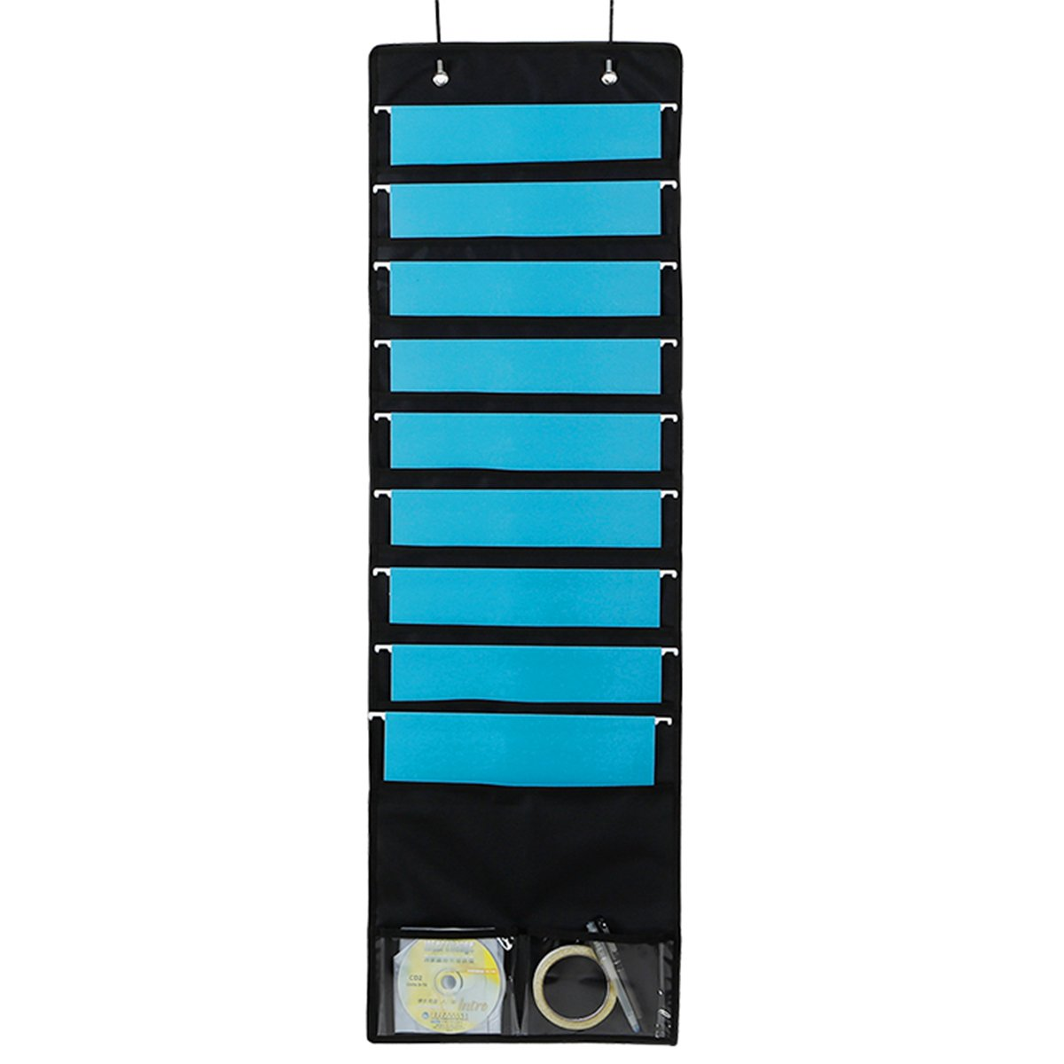 hanging file organizer wall mount folder holder penck over the door storage po ebay. Black Bedroom Furniture Sets. Home Design Ideas
