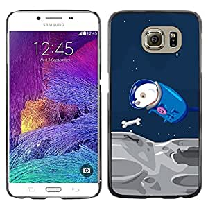Design for Girls Plastic Cover Case FOR Samsung Galaxy S6 Funny Flying Space Dog OBBA