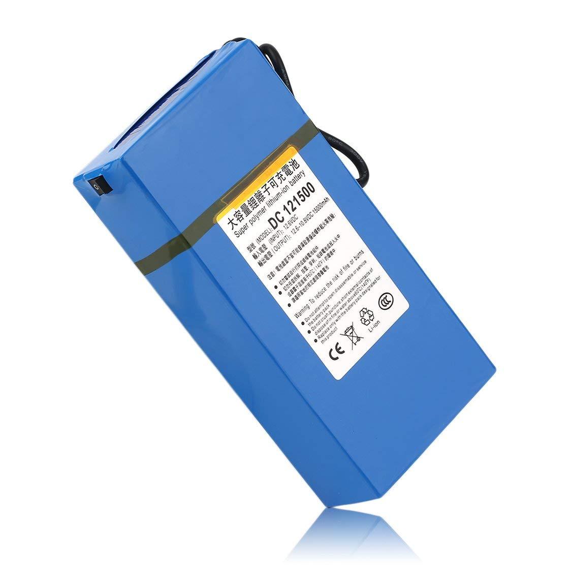 DC12V Super Strong 15000MAH Batería Litio Recargable de Ion de Litio Batería de Respaldo de batería de Iones de Litio Potente para la cámara CCTV Transmisor inalámbrico 0dc04a