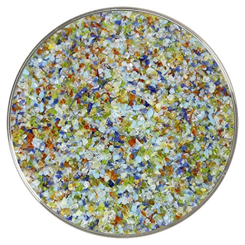 Frit Glass - Rainbow Designer Fusible Glass Medium Frit Mix - 4oz - 90COE - Made From Bullseye Glass by New Hampshire Craftworks