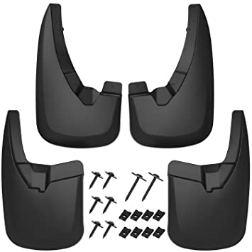 Heavy Duty Splash Mud Guards Full Set 4pc Without OEM Fender Flares Only OEDRO Upgraded Front Rear Mud Flaps Compatible with 2009-2018 Dodge Ram 1500 /& 2010-2018 Ram 2500//3500