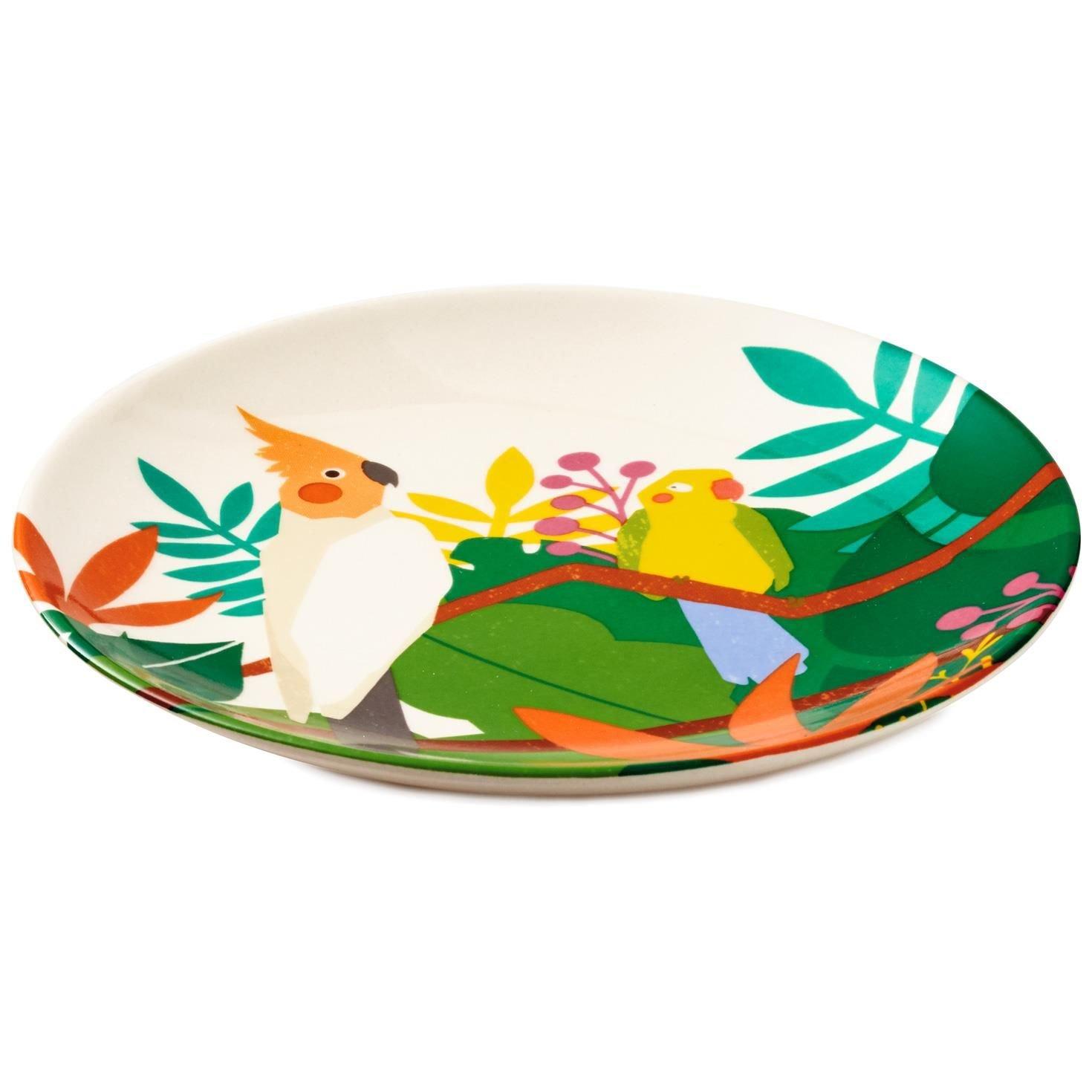 Cockatoo Dessert Plate Kitchen Accessories Animals & Nature