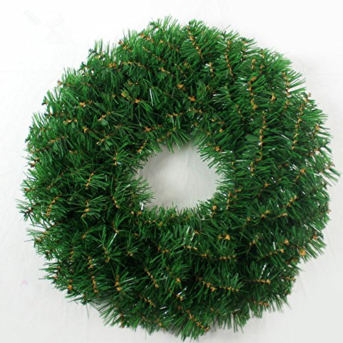 Christmas Garland for Stairs fireplaces Christmas Garland Decoration Xmas Festive Wreath Garland with Christmas wreath Christmas tree Christmas green Wreath,45CM green garland by Caribou Furniture And Decor