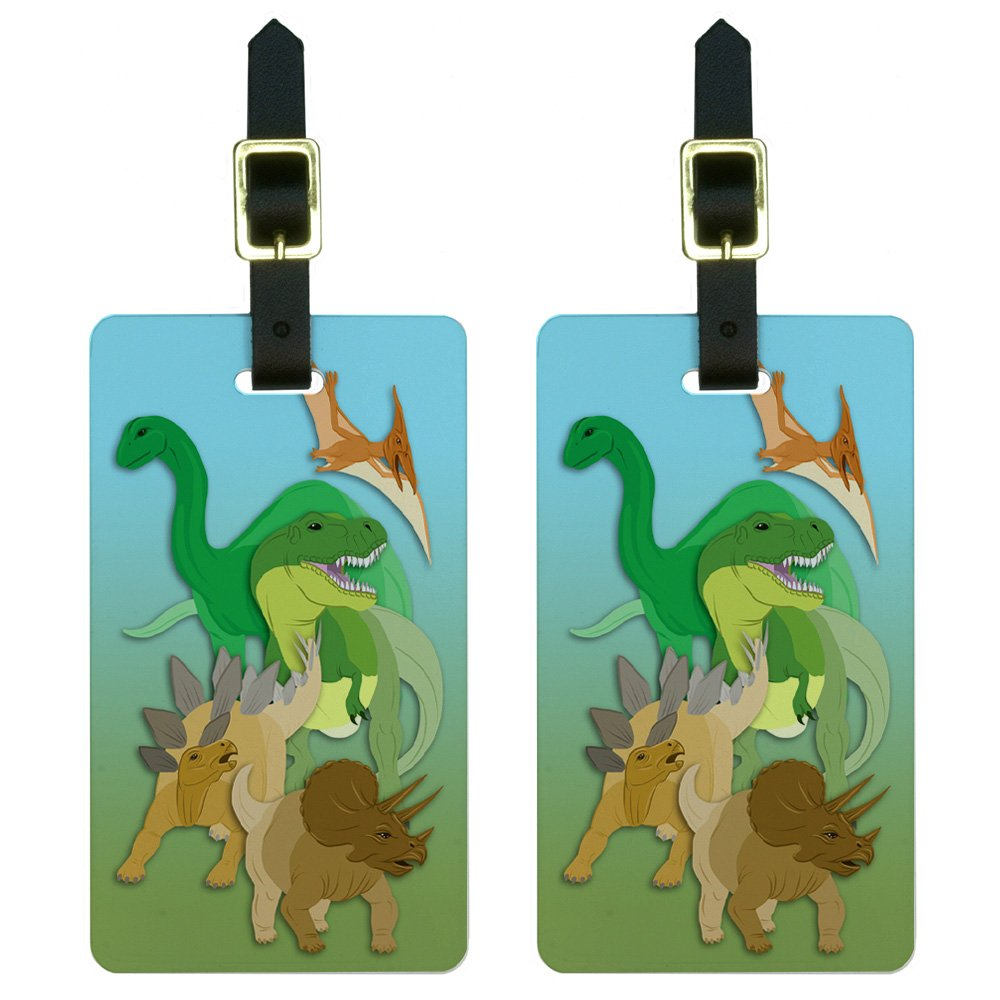 Dinosaur T-rex Luggage Tags Bag Travel Labels For Baggage Suitcase