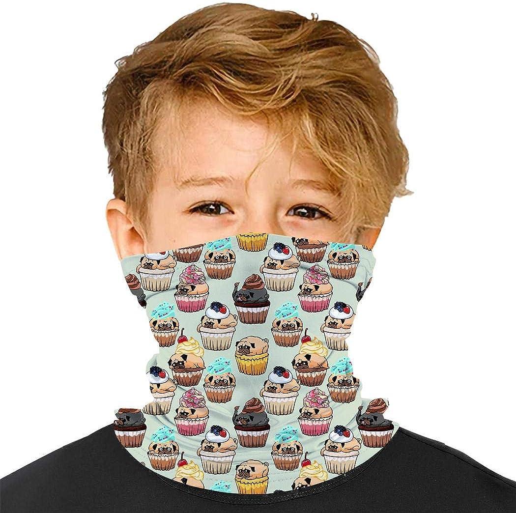 YUSMO Color Dinosaurs T-rex Washable Bandana Kids Dust Face Masks Neck Gaiter Headband
