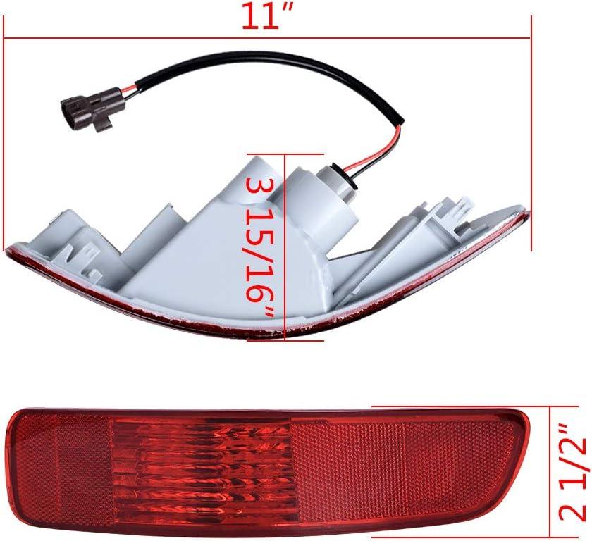 Left Rear Tail Fog Light Bumper Side Marker Reflector For Mitsubish Outlander L