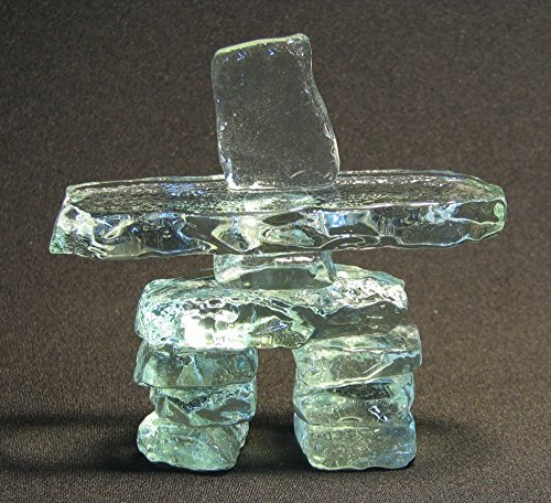 4.5 Clear Glass Inukshuk