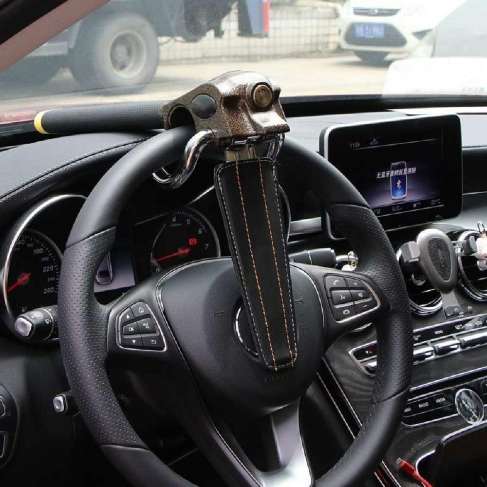 MASO High-end Steering Wheel Lock Anti Cut Saw Rust with 3 keys for SUV Heavy Duty Vehicle Car by MASO