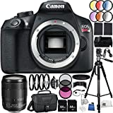 Canon EOS Rebel T6 DSLR Camera - International Version (No Warranty) w/Canon EF-S 18-135mm f/3.5-5.6 IS USM Lens 64GB Bundle 35PC Accessory Kit Which Includes 3 Piece Filter Kit (UV-CPL-FLD), MORE