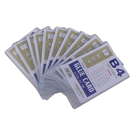 10pcs B4 Fundas de Tarjeta Identificación Manga Protectora Bolsa ...