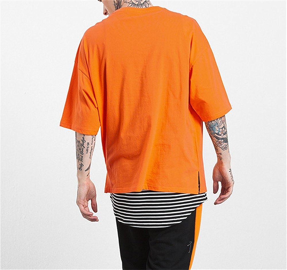 BESTHOO Semplice Uomo Maglietta Estive Tinta Unita Casual Manica Corta T-Shirts Oversize Popolare Girocollo Bluse Classico Top
