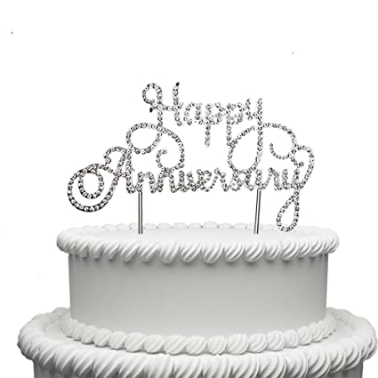 Amazon Com Happy Anniversary Cake Topper Wedding Anniversary