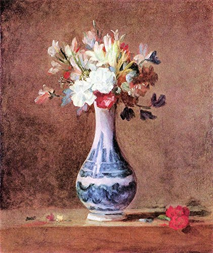 The Museum Outlet - Flowers in a Vase by Jean Chardin - Canvas Print Online Buy (30 X 40 Inch)