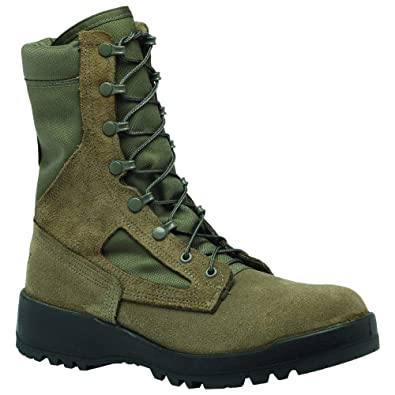 Belleville Womens Women s Hot Weather Safety Toe - USAF Work Duty Boots  Green cd784913ca