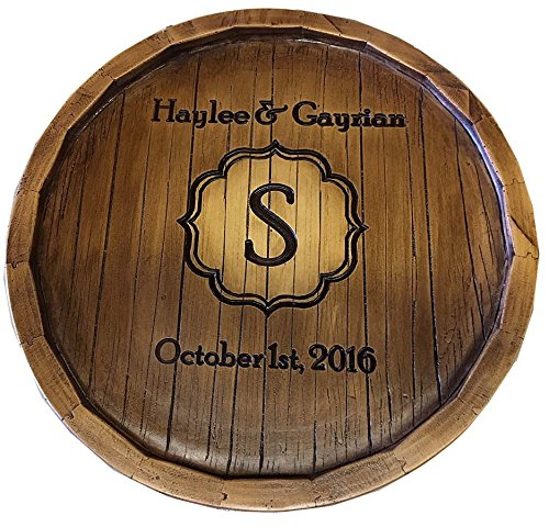 Wine Barrel Monogram and Personalized Lazy Susan by Piazza Pisano (Image #3)