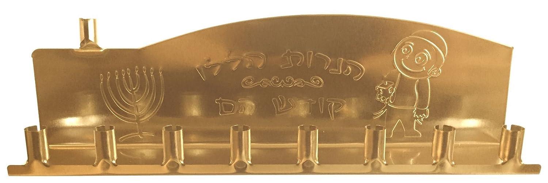 Chanukkiyah in stagno con 9 portacandele Gold Ner Mitzvah R30215