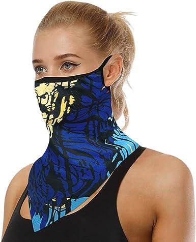 TXXM Face Gaiter Bandanas Ear Loops Balaclava Headwear Dust Wind UV Protection