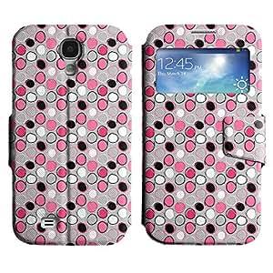 Be-Star Diseño Impreso Colorido Slim Casa Carcasa Funda Case PU Cuero - Stand Function para Samsung Galaxy S4 IV / i9500 / i9505 / i9505G / SGH-i337 ( Many Circles )