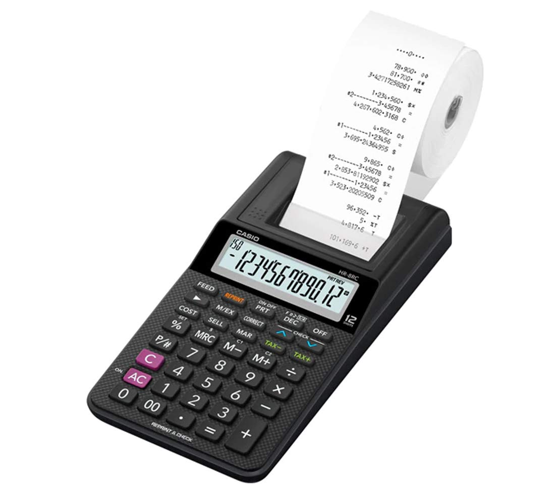 Casio HR-8RC Mini Desktop Printing Calculator, New