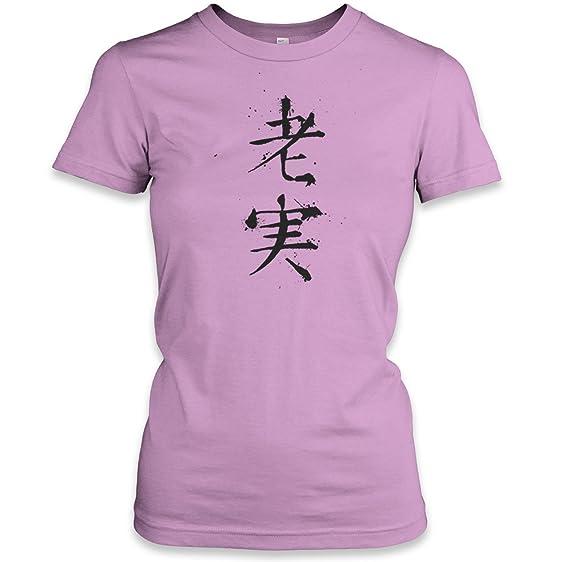 Amazon Hoodiii Womens Printed T Shirt Loyal Chinese Symbol